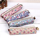 Lovely, Female Elegant Creative Floral Pen Bag The Large Capacity Pen Bag