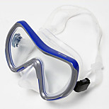 Glass and Plastic Materal Diving Mask for Adult(Assorted Colors)