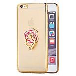4.7fashion casos de telefone chapeamento para iphone 6 caso para iphone6 6s 6 luxo metal que bling anel de diamante ficar para trás