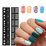 -Finger / Zehe-3D Acrylic Nail Art Molds-PVC-1pcs nail sticker templateStück -3.5*18cmcm