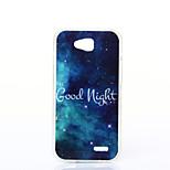 Good Night Pattern TPU+IMD Soft Case for LG L90/H422/H502