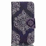 Cross Pattern Leather Wallet Cover Case for Wiko Lenny2 - Vintage Flowers