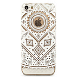 Retro Flower Painted Pattern Hard Plastic Back Cove For iPhone5S/iPhoneSE 4.0