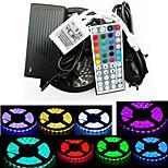 ZDM防水5メートル300x5050 SMD RGB LEDストリップライトと44keyリモートコントローラ、6aのEUの電源(ac110-240v)