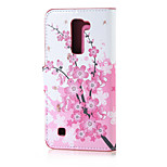 Plum Blossom Magnetic PU Leather wallet Flip Stand Case cover for LG K7 LG Tribute 5