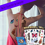 16Pcs/Lot New Design Fashion Temporary Tattoo Stickers Temporary Body Art Waterproof Tattoo Pattern