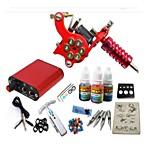 Basekey Tattoo Kit JH552 Gun Machine With Power Supply Grips 10ML Ink