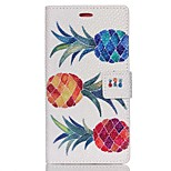 Pearl Grain Wallet Leather Case for Huawei Ascend P8 Lite - Pineapple