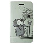 Tok samsung galaxy s7 s8 karikatúra pitypang elefánt virág teljes karosszéria fedél kártyával és állvány tokhoz s6 s6 él