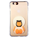 Glow in the Dark Sloth Bears Pattern with Hand Ring and Strap PC Back Case for iPhone 6Plus/6SPlus 5.5