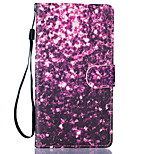 Purple Petals Pattern PU Leather Full Body Case with Stand for LG LS770