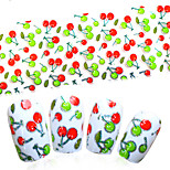100cmx4cmNail Art Transfer Glue Foils DIY Red/Green Cherry Pattern Sweet DIY Decor Nail Sticker Manicure Tips