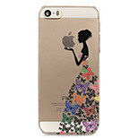 papillon jupe fille modèle peint en plastique dur retour crique pour iphone5s / iphonese 4.0