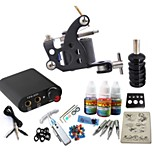 Tattoo Kit JH556 1 Machine With Power Supply Grips 3x10ML Ink