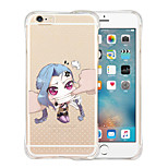 I Am Not You Doll Soft Shockproof Transparent Silicone Back Case for iPhone 6 Plus/6S Plus(Assorted Colors)