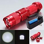 Lanternas LED LED 3 Modo 2000 LumensFoco Ajustável / Prova-de-Água / Resistente ao Impacto / Bisel de Golpe / Clipe / Emergência /