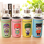 1PC 300 Ml British Soldiers Cloth Cartoon Warm Hand Seal Cellular Glass Water bottles