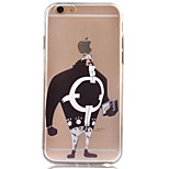 Warrior Transparent TPU Material Soft Phone Case for iPhone 6/6S