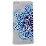 Half Flower Pattern Transparent TPU Material Soft Phone Case for Huawei Ascend P9/Ascend P9 Lite