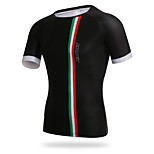 XINTOWN Cycling Mens Tight T-shirt Black Quick Dry Bike Jersey Tops