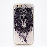 Bloodthirsty Crazy Lion IMD Printed TPU Soft Back Cover for iPhone 6/6S(Assorted Colors)