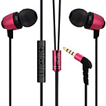 ABINGO S600i Metal Ergonomic Earbuds Style Headphones with Microphone & Remote Control for Smartphone