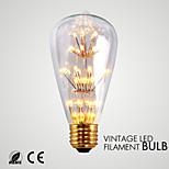 Lampe de Décoration Décorative Blanc Chaud GMY 1 pièce ST64 E26 1.5W 33 SMD 140-180 lm AC 110-130 V