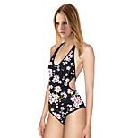 Women's Sexy Backless Vest Triangle Piece Swimsuit Soft Quick Dry Swimwear