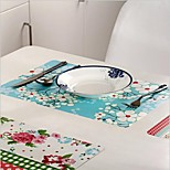 New Simple  Striped Placemats Insulation Western Washable Dining Table Mats