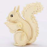 Little Squirrel Wood 3D Puzzles Diy Toys