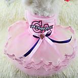 Sweet Bowknot Pet Lace Dress