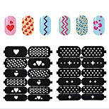 10X12PCS New Style Black Hollow Out DIY Paster Nail Art Diecut Manicure Stencils Guide