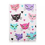 diseño especial de la novedad del amor gatos cuero de la PU caso folio pro funda para el ipad