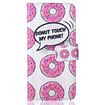 Donuts Pattern PU Leather Material Phone Case for iPhone 6/6S
