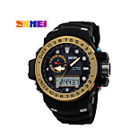 SKMEI Men's Analog- Digital Silicone Band 30m Water-resisstant Multi-Functional Sports Watch