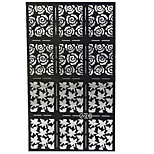 1X12PCS Flower Style Hollow Out DIY Paster Nail Art Diecut Manicure Stencils Guide