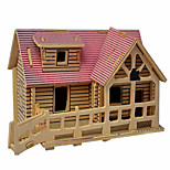 3D Puzzles Solid Wood Puzzle Children'S Educational Toys Small Villa