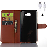PU Leather Flip Wallet Case with USB Cable for Samsung Galaxy A3/A5/A7/A8/A9 (Assorted Colors)