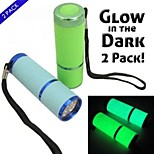 2 Pack 9 LED Glow in the Dark Super Bright Flashlights