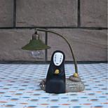 mystérieuse lumière de nuit visage mâle lampe led résine artisanat de décoration de lecture lumière (couleur aléatoire)