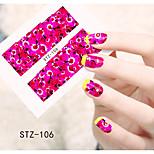 1pcs  Water Transfer Nail Art Stickers  Colorful Flower Nail Art Design STZ106-110