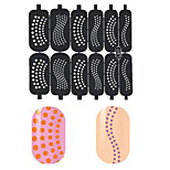 5 Styles/Set  Nail Art Hollow Template Stickers Stamp Stencil Guide Makeup Tools (You Can Choose The Number  Tell Us)