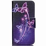 Cross Pattern Leather Wallet Case for Acer Liquid Jade Z - Vivid Butterflies