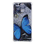 Blue butterfly Shockproof as TPU soft shell cover Case for Huawei Ascend P9