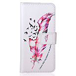 Feather Pattern PU Leather Material Phone Case for iPhone 5/5S/iPhone SE