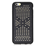 Rivet Leather Series Silver Round-Dots Soft TPU Case for iPhone6/6S