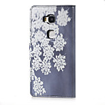 Blooming Flowers Magnetic PU Leather wallet Flip Stand Case cover for Huawei Honor 5X