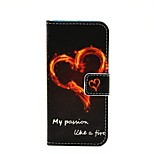 Love Fire Lightning Pattern Painted PU Phone Case for iphone 6/6S