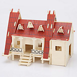 Thai Customs House Wood 3D Puzzles Diy Toys