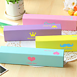 1PC Creative Stationery Candy Color Fashion Element Small Carton Student Pencil Box(Style random)